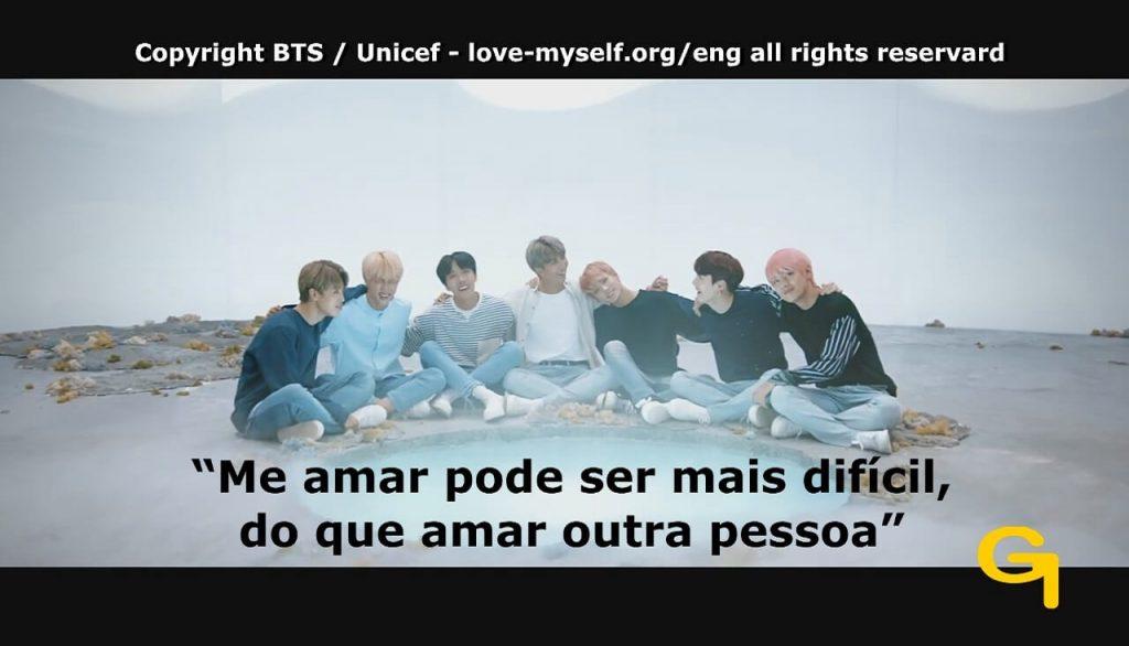 Frame Lúdico sobre a Música Love Myself do Grupo BTS