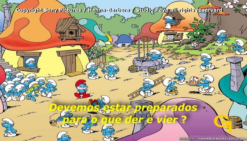 Frame Lúdico sobre o desenho Smurfs de Peyo