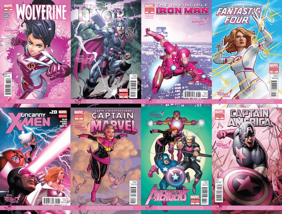 Revistas Outubro Rosa Marvel
