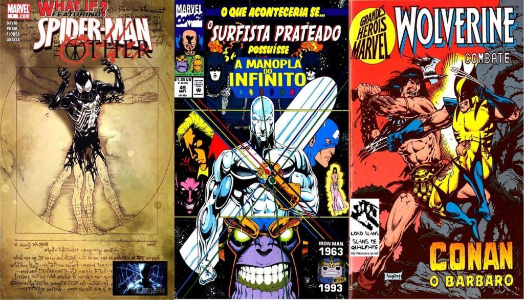 Alguns exemplos da Marvel Comics: